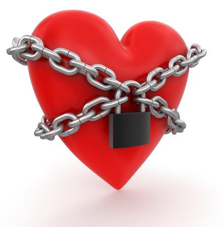 Heart and lock photo