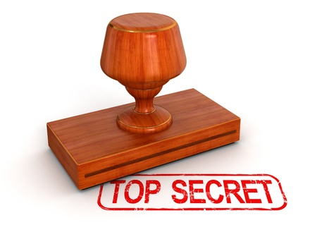Rubber Stamp top secret   clipping path included Stock Photo - 22196430