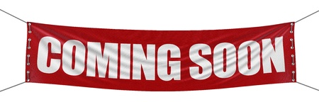 Coming soon banner clipping path included  Stok Fotoğraf