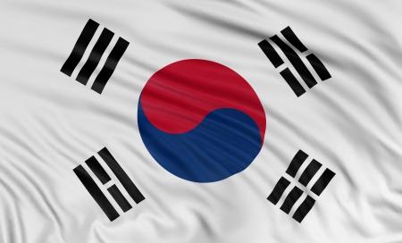 3D韓國國旗 版權商用圖片