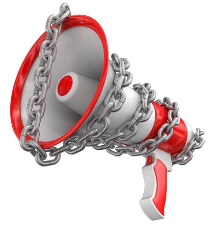 Megaphone and chain photo