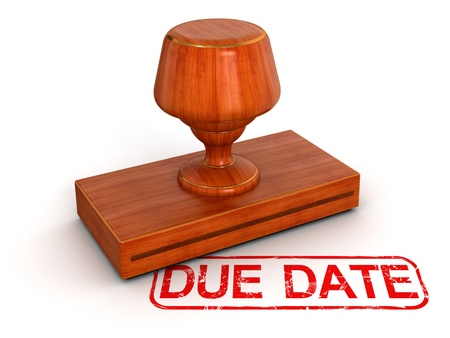 Rubber Stamp due date  Stock Photo - 22160867