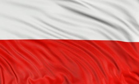 3D Poolse vlag Stockfoto