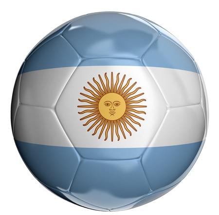 bandera argentina: Bal�n de f�tbol con la bandera de la Argentina