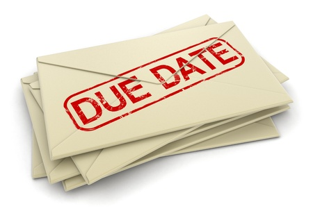 due date: due date letters