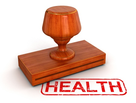Rubber Stamp health Stock Photo - 22213757