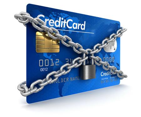 Credit Card and lock Stok Fotoğraf