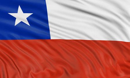 chilean flag: Bandera chilena 3D Foto de archivo