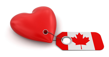 Heart with Canada flag  photo
