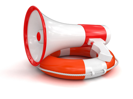 Megaphone and Lifebuoy  photo
