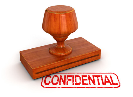 Rubber Stamp Confidential Stock Photo - 22214669