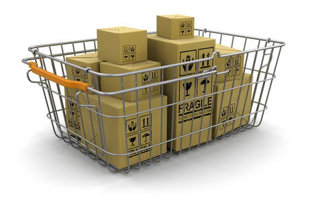Shopping Basket and packages  photo