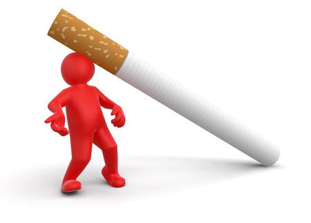 cigarette pack: Cigarette beats man