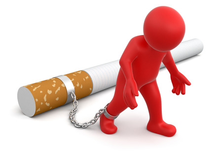 Man attached to cigarette