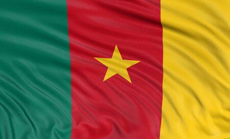cameroon: Bandiera 3D del Camerun