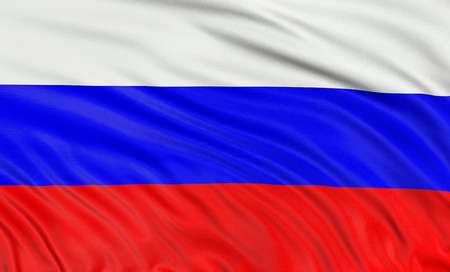 3D Russian flag photo