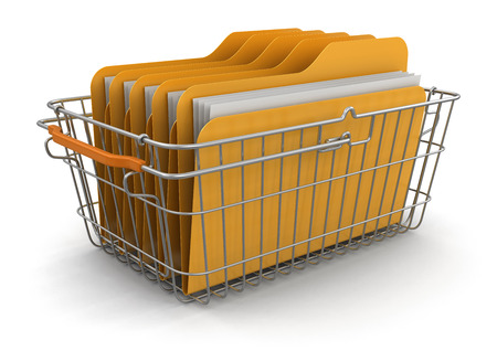 Shopping Basket and Folders  photo