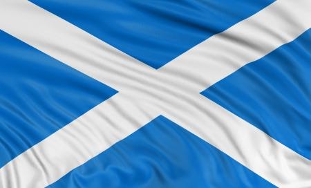 scottish flag: 3D Scottish flag