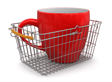 Shopping Basket and Cup  photo