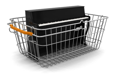 Shopping Basket and Piano   photo