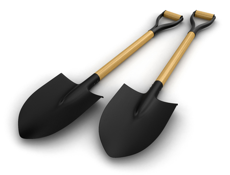 cultivated land: Shovels   Stock Photo