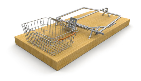 Mousetrap and Shopping Basket photo