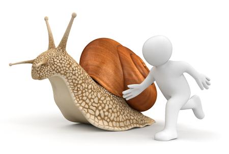 overtake: Snail and running man