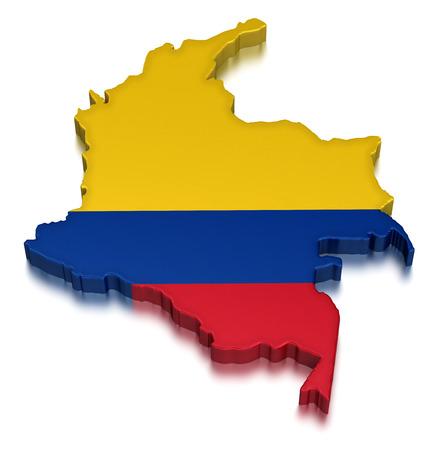 la bandera de colombia: Colombia Foto de archivo