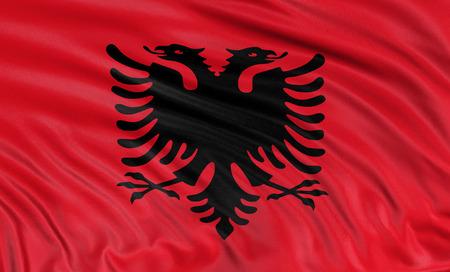 albanian: 3D Albanian flag