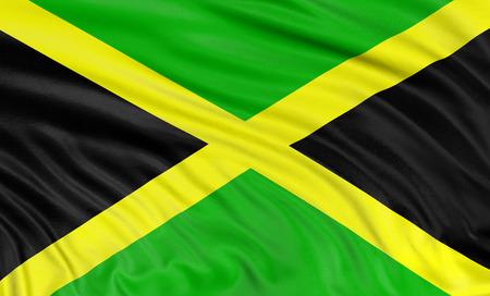 3D Jamaican flag photo