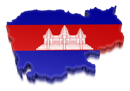Cambodia  clipping path included