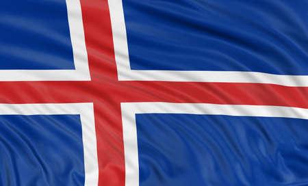 icelandic flag: 3D pabell?n island?s