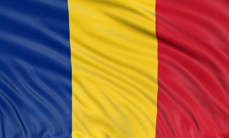 3D Romanian flag