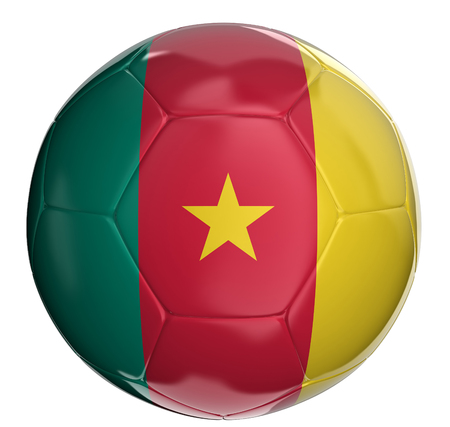 cameroon: Soccer ball with Cameroon flag
