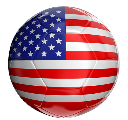 3d ball: Soccer ball  with US flag