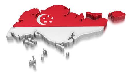 包括新加坡剪輯路徑 新聞圖片