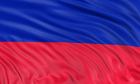 haitian: 3D Haitian flag Stock Photo