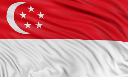 3D Singapore flag 新聞圖片