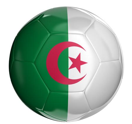 Algierski: Soccer ball with Algerian flag