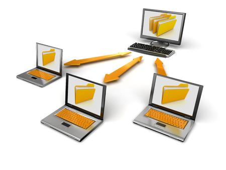red informatica: La red de ordenadores Foto de archivo