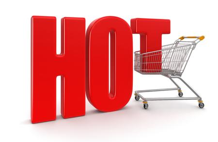 shopping basket: Shopping Basket and Hot   Stock Photo