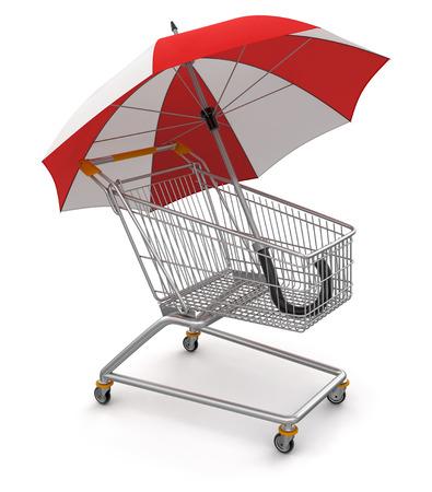 Shopping Cart with Umbrella  photo