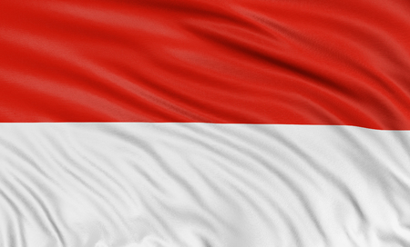 the indonesian flag: 3D Indonesian flag Stock Photo