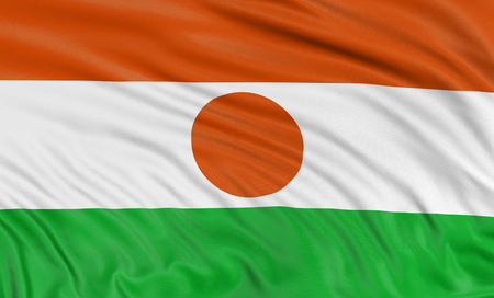 niger: 3D Niger flag Stock Photo