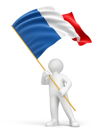 french culture: Man and French flag
