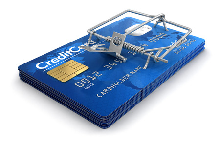 Mousetrap with Credit Cards  photo