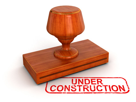Rubber Stamp Under Construction Stock Photo - 22375361