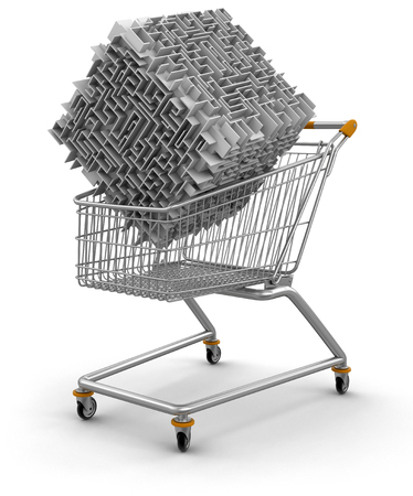 Shopping Cart with  maze  photo