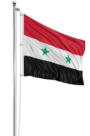 Syryjski: Syryjski 3D Flaga Zdjęcie Seryjne