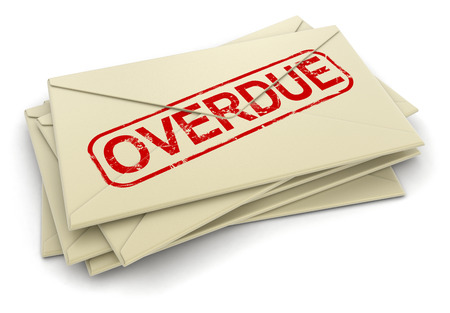 overdue: Overdue letters   clipping path included  Stock Photo